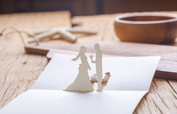 結婚式 切り絵